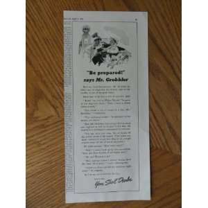 says Mr. Grobbler)Original vintage 1939 Colliers Magazine Print Art