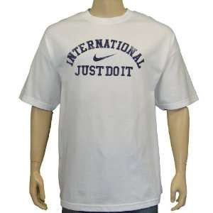 Nike Mens T Shirt Just do It Athletic White XXL Sports