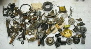 Lot of Vintage/Antique Radio Parts Assortment Knobs,Condensors,Coils