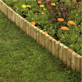 Fencing Garden Edgings Log Rolls Picket Style Border Edging