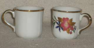 Yamasen brand fine porcelain demitasse cups