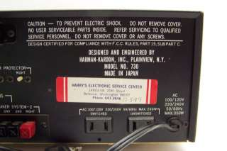 Vintage Harman Kardon HK 730 Twin Powered 730 High Fidelity Stereo