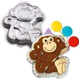 New Wilton MONKEY CAKE PAN Zoo Animal Boy Girl Birthday Party Cake