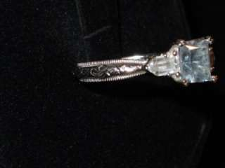 Epiphany COLLECTION TACORI DIAMONIQUE BLUE CZ STERLING RING