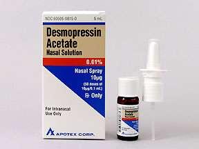 Picture DESMOPRESSIN NASAL SPRAY 0.01%  Drug Information  Pharmacy