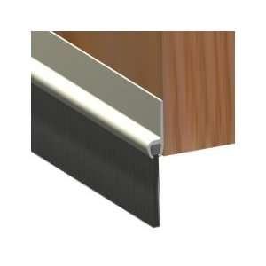 WHITE BOTTOM DOOR DRAUGHT EXCLUDER PVC BRUSH SEAL: .co.uk: DIY