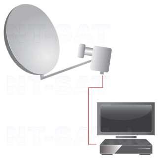 Sat Anlage mit DVB Satellitenreceiver, LNB, 80cm, Kabel