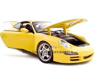 Porsche 911 997 Carrera S Diecast Model 1/18 Yellow Die Cast Car by