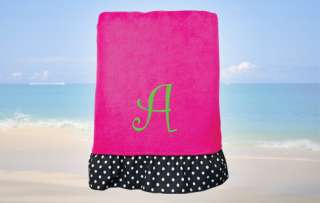 Personalized Pink Beach Towel  Simply Personalized