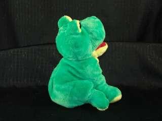 MUSICAL RIBBIT SOUND FULL BODY PLUSH GREEN FROG PUPPET