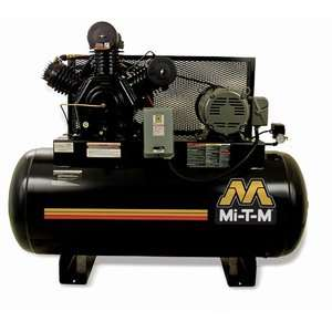 Mi T M 15 HP Electric Two Stage Stationary Air Compressor Tools