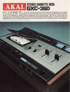 brochure for the akai gxc 39d cassette deck tape recorder 0d 0a 0d