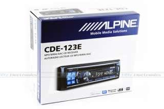ALPINE CDE 123E CAR AUDIO iPOD iPHONE CD  USB PLAYER