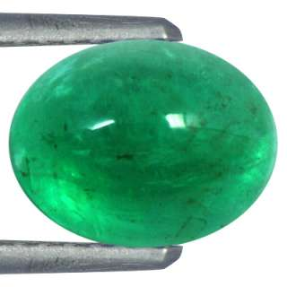 56 cts Natural Top Green Emerald Gemstone Oval Cab From Zambia