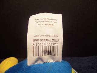 Disney Plush Basketball Baby Donald Duck Stuffed 4 Toy