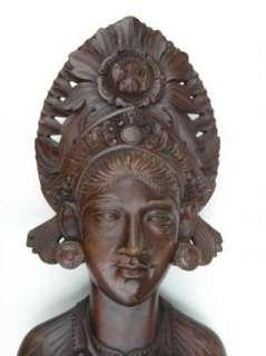 RARE Vintage Hand Sculptured Balinese Goddess