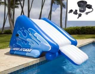 INTEX Kool Splash Inflatable Swimming Pool Water Slide + Quick Fill