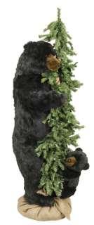 60 Ditz Pre Lit Christmas Tree w Baby and Mama Black Bear