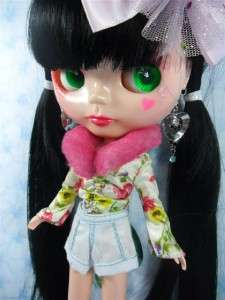 OOAK Big Head Basaak Blybe Blythe clone CCE Doll Completed Custom
