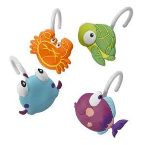 Fishy Shower Curtain Hooks Tropical Bath Decor Home & Kitchen