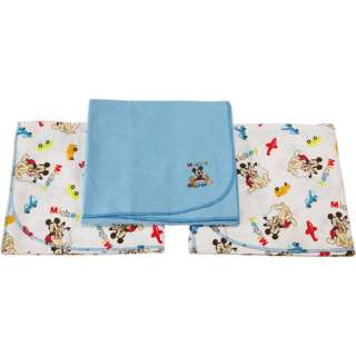 Disney Baby   Mickey Mouse Flannel Receiving Blankets Bedding & Decor