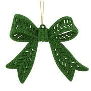 Bow Christmas Ornament Holiday Time Green Notes Bow Christmas Ornament