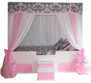 FULL Princess Canopy BedGirls BedGirls Furniture Pink and