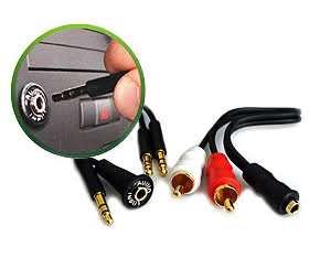 AUX Dash Mount Kit 3.5mm Audio Input Kit IS335 ipod RCA Simple Jack