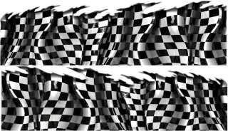 CHECKERS RACING FLAG Auto Graphics Car Truck Graphic Decals Set 6ft