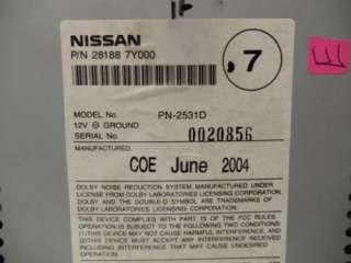 04 05 Nissan Maxima Radio Tape CD Player 28188 7Y000