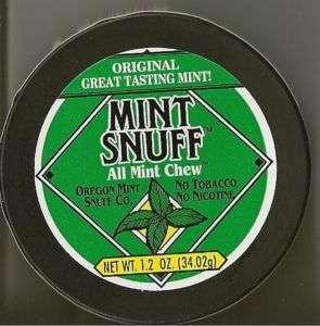 Mint Snuff Tobacco Free Chew ORIGINAL MINT Flavor