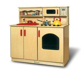 Childrens Kids Wooden Pretend Play Kitchen Center   36