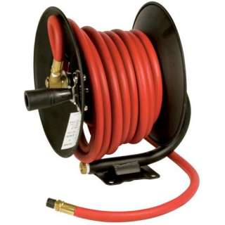 Performance M614 30 Foot Manual Air Hose Reel with Hose