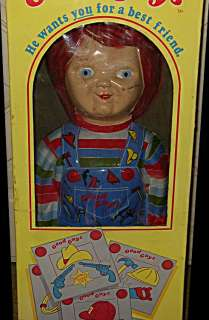 Play MOVIE PROP Good Guys CHUCKY Doll Vintage Horror Movie Box