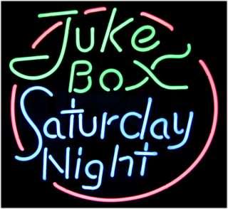 JUKEBOX SATURDAY NIGHT NEON SIGN LARGE SIZE 24 * 22 VERY RARE