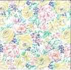 WALLPAPER SHAND KYDD ENGLISH FLORAL COTTAGE VINTAGE YELLOW PINK BLUE