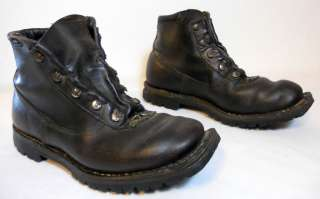 Vintage Cross Country Leather Ski Boots Made in Norway