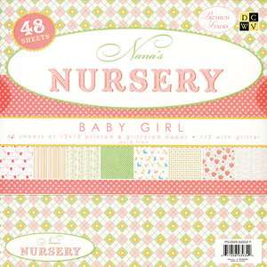 Nanas Nursery Baby Girl Paper Stack 12X12 48 Sheets/Pad Crafts