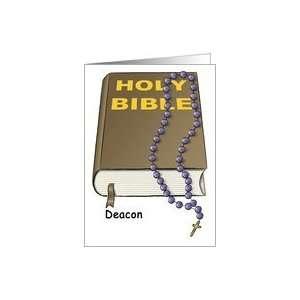 Deacon   Bible   Rosary   Note Card   Blank Inside Card