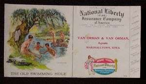 1940s? Fire Insurance Van Orman Agents Marshalltown IA