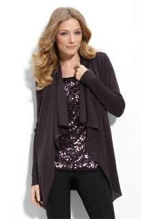 Eileen Fisher Drape Front Merino Wool Cardigan