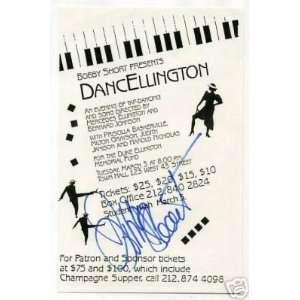 Bobby Short Jazz Big Band Signed Autograph Concert Ad