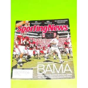 Nick Saban Alabama Crimson Tide (Sporting News Magazine