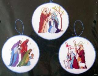 Dimensions NATIVITY ORNAMENT SET Counted Cross Stitch Christmas Kit
