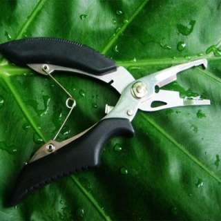 Gear/Tool Stainless Fishing line Plier Scissor tackle hook+Bag