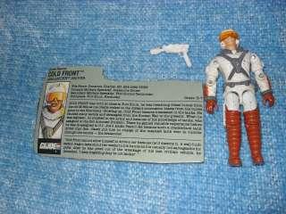 GI JOE COLD FRONT 1990 W GUN / PISTOL ORIGINAL FILE CARD & YELLOW