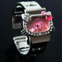 New Pink HelloKitty Lady Girl Crafts Bracelet Wrist Watch, T46 PK