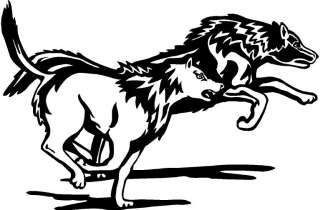 Wolves Large Vinyl Decal Car Truck Trailer Sticker 24