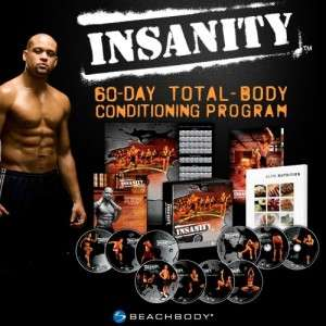 Insanity 60 Day Workout 13 DVDs , Nutrition Guide & Fitness Calendar