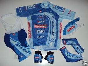 New FUJI Team Cycling Set Jersey Bib Shorts Gloves XXXL